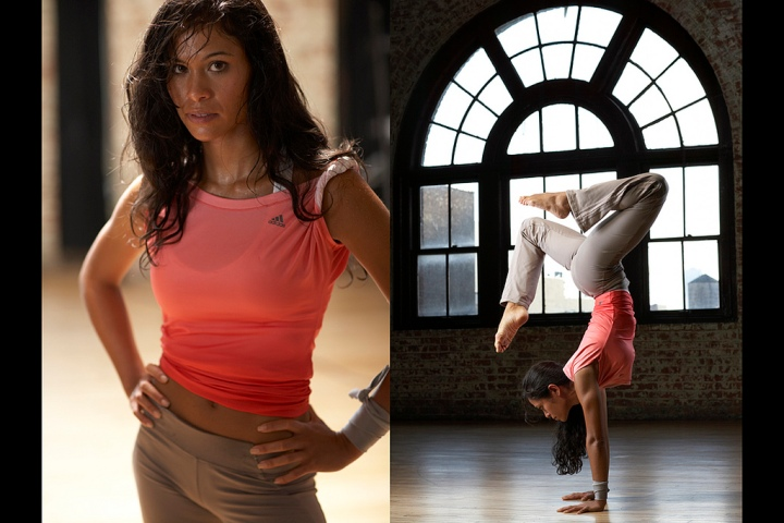 Women's yoga fitness photo by Monte Isom